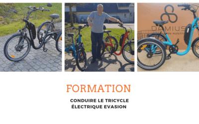 Formation : conduire le tricycle électrique Evasion (Bande annonce)